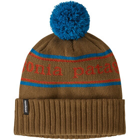 Patagonia Powder Town Beanie Boys, park stripe knit/steller blue